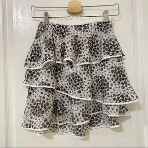 Club Monaco Silk Layer Skirt Size00